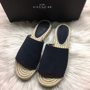 Coach Navy Sandal Slides 8.5M